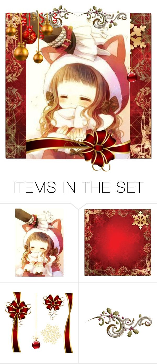 """""""Kitty Christmas"""" by dark-queen12 on Polyvore featuring art"""