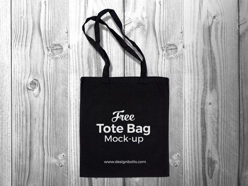 Download Free Black Cotton Tote Shopping Bag Mock Up Psd Zee Que Black Tote Bag Tote Bag Bag Mockup