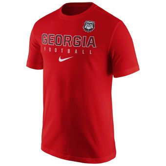 Nike Georgia Bulldogs Dark Gray Football Practice T-Shirt