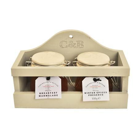 Cartwright & Butler Wooden Gift Set With Winter Preserve And Breakfast Marmalade, $15 !!