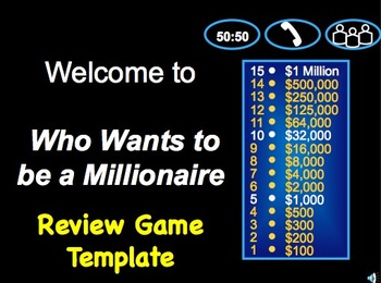 who wants to be a millionaire? class review game template | school, Powerpoint templates