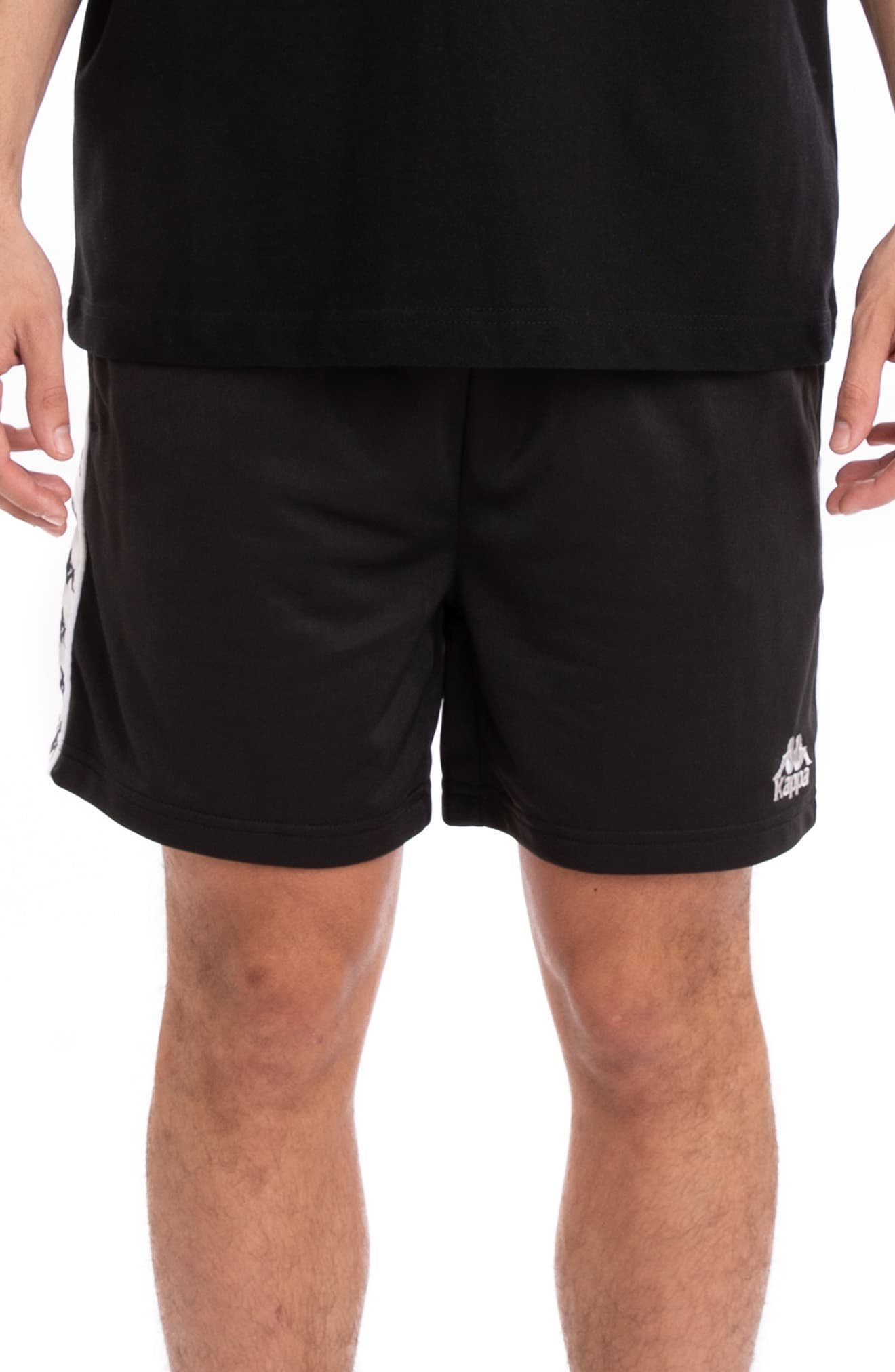 24a4f3b6 Men's Kappa 222 Banda Cole Athletic Shorts, Size Small - Black in ...