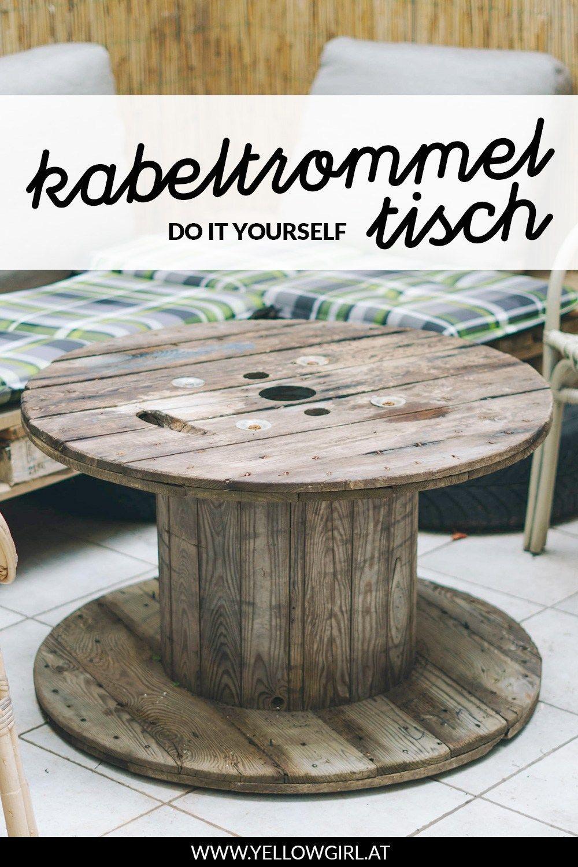 Terrasse & Balkon: DIY Kabeltrommel Tisch das DIY
