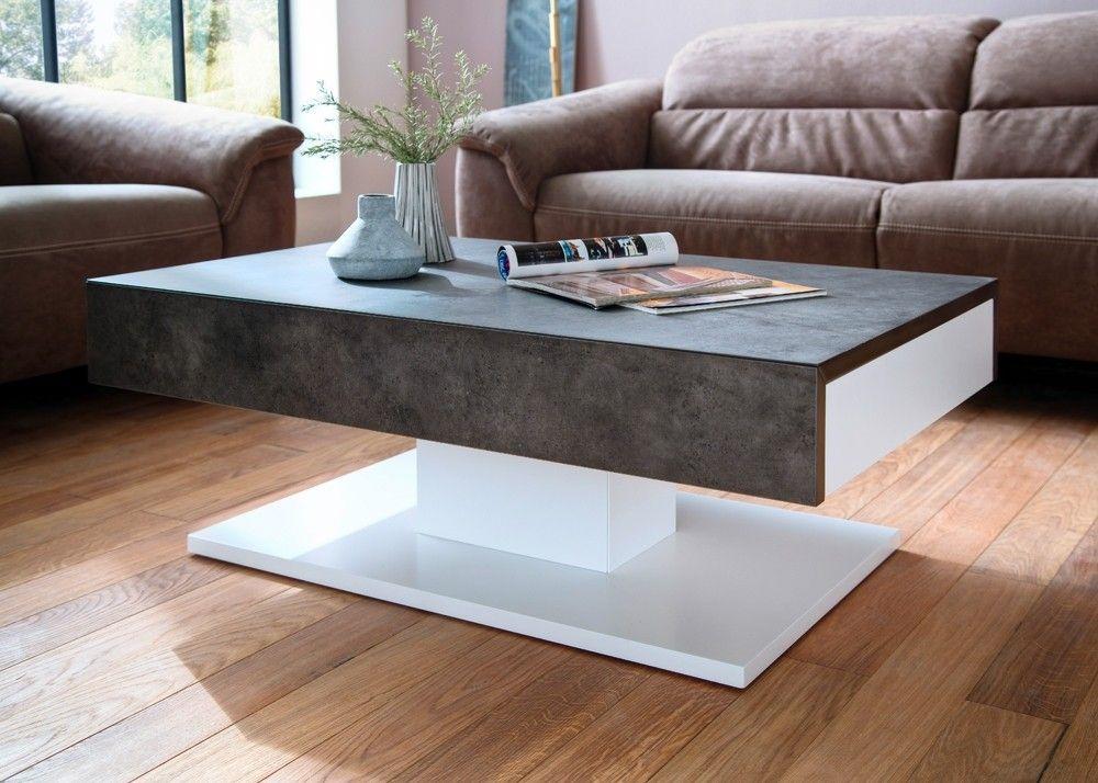 Wohnzimmertisch betonoptik ~ Couchtisch lania weiß mit betonoptik buy now at