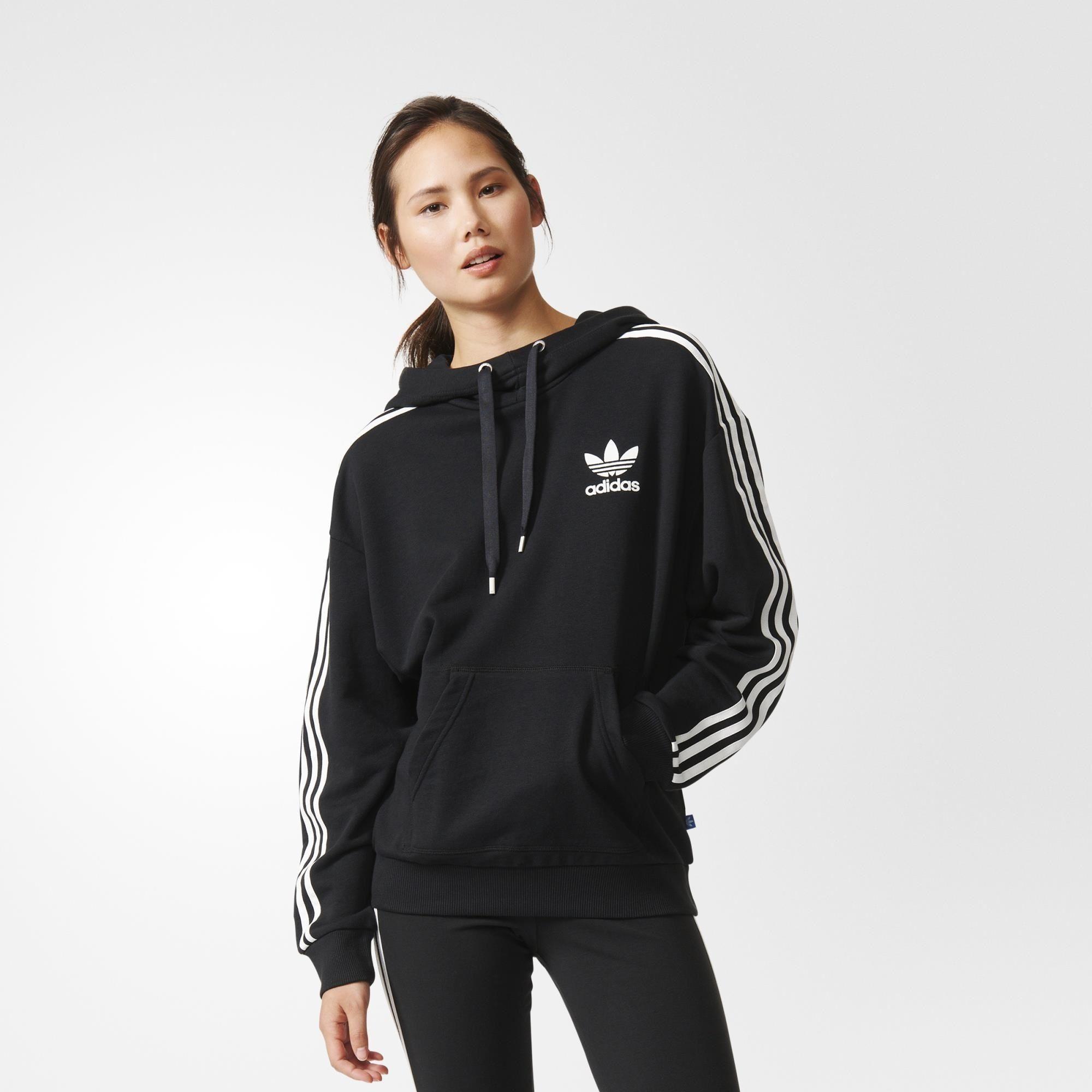 adidas 3-Stripes Hoodie - Black | adidas US