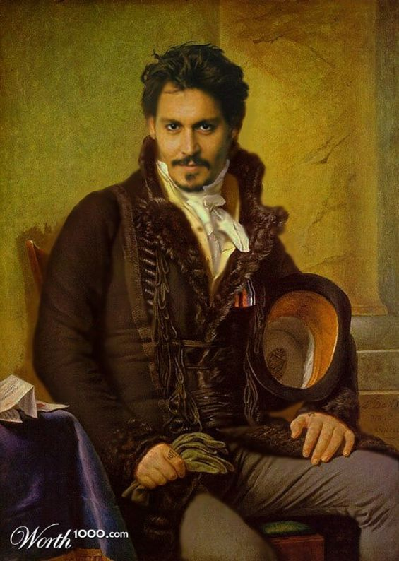 Johnny Depp als Renaissance Painting, digital erstellt, gedruckt auf Leinwand. Sehr kreative Interpretation.