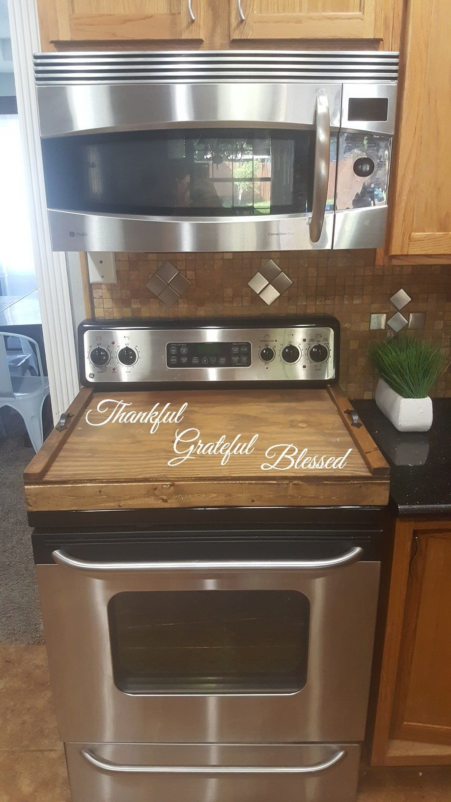 How To Stove Top Cover For Added Buffet Space I Would Like This Custom Made To Match Counter Top Surface Stove Top Cover Home Diy Home