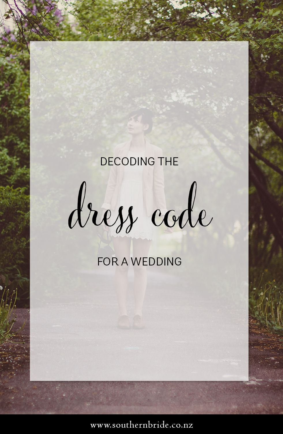 What's the dress code for weddings? Wedding dress code