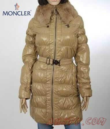 Moncler Femmes Long Down Manteau 2012 KAKI