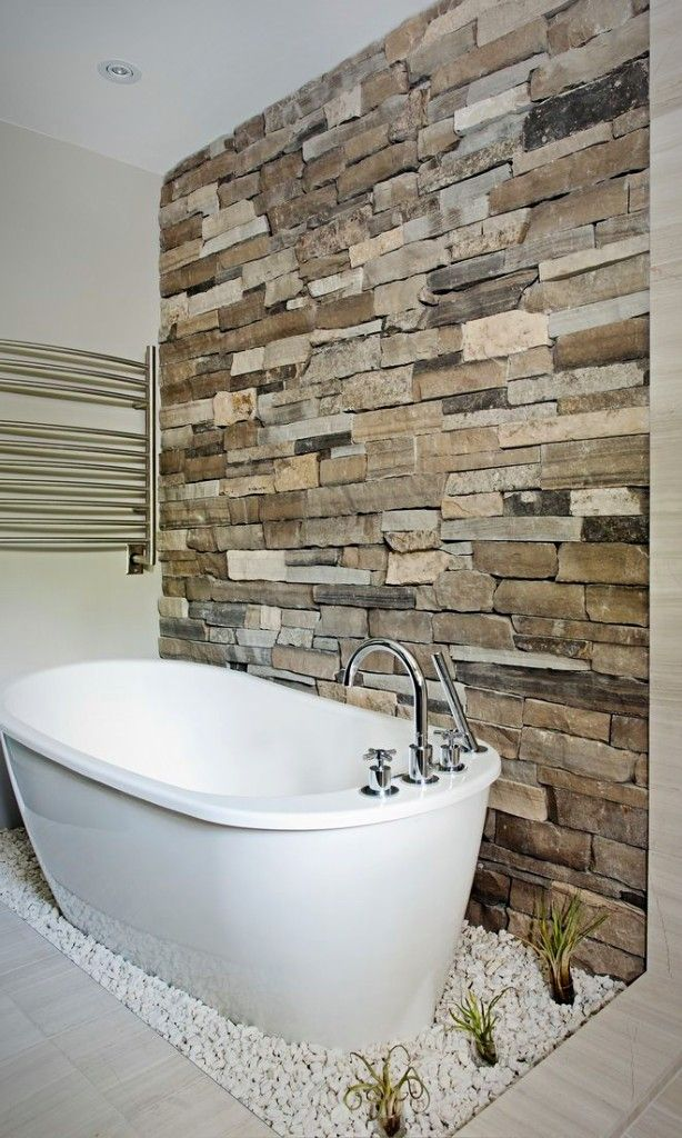 14 Striking Bathrooms With Stone Walls