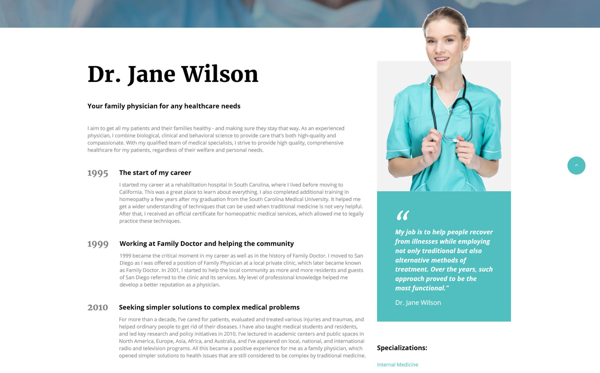 Family Doctor Medical Consulting Multipage Html5 Website