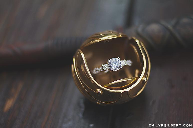 Golden Snitch Ring Box Hogsmeade Proposal Emilyrgilbert Com My