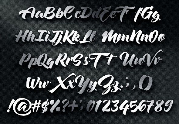 Beautiful font is modern script font every single letters have been