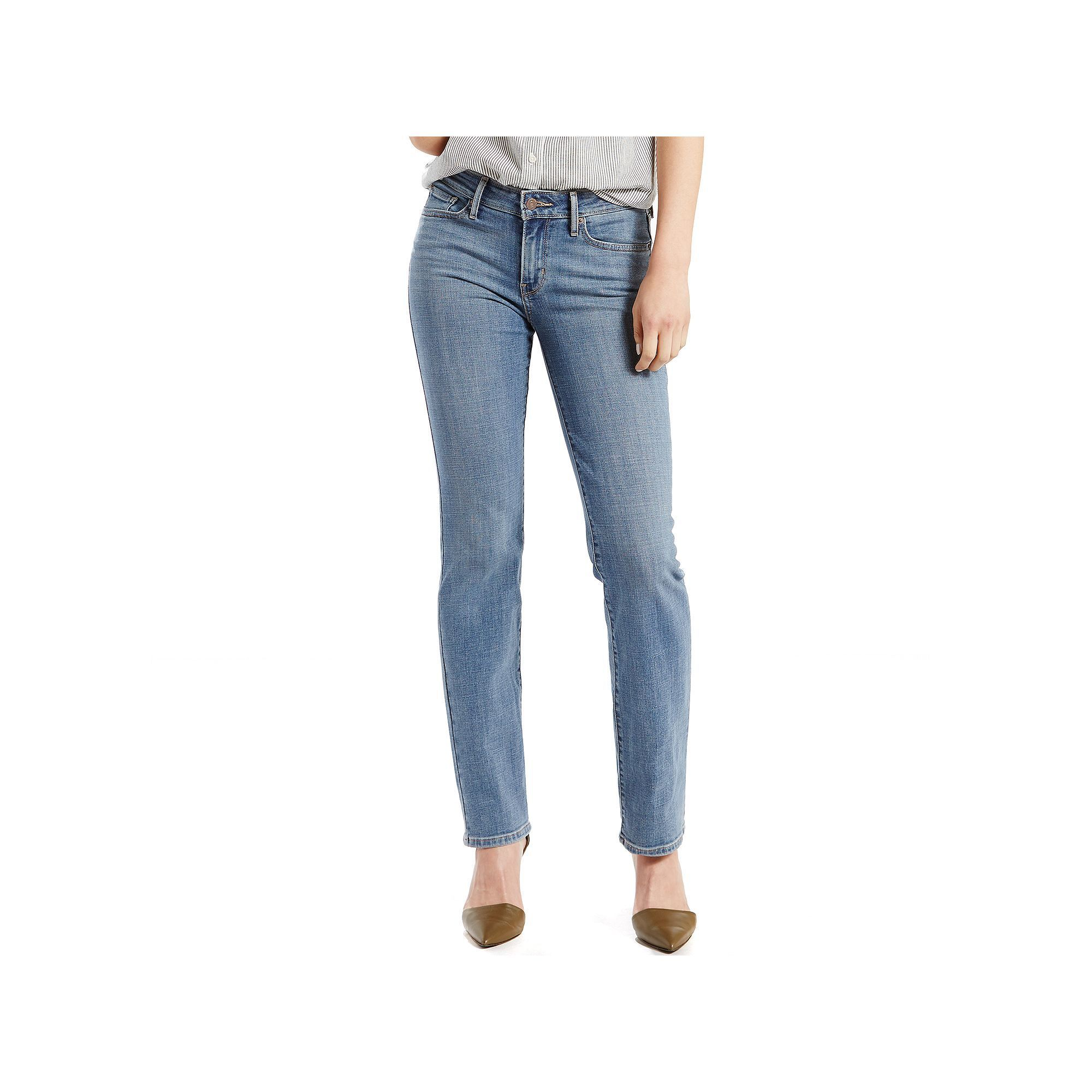 fb28ea696d0cf Women's Levi's 714 Slim Straight Leg Jeans, Size: 6/28 Short, Med Blue