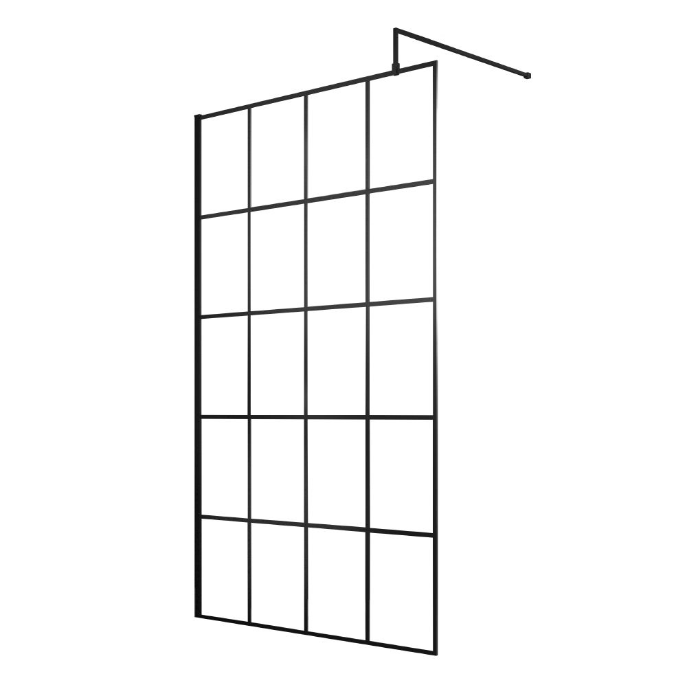 Hudson Reed Frame Effect Wet Room Screen with Support Bar 1100mm Wide - 8mm Glass #wetrooms