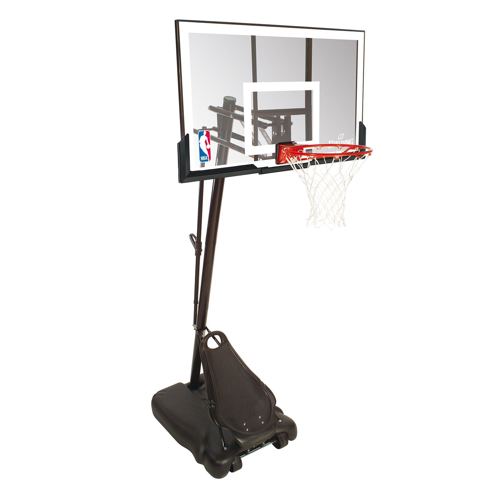 spalding ultimate hybrid portable basketball system a heavy duty