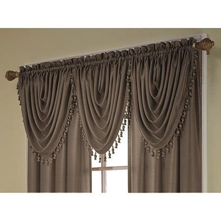 Treasure Faux Silk Window Curtain Valance 36x26 Curtains Valance Curtains Window Valance