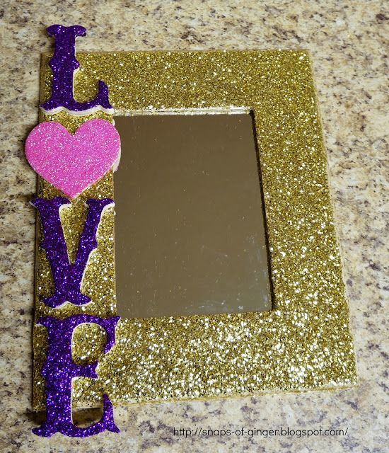 DIY Glittered LOVE Mirror (With images) Diy valentines