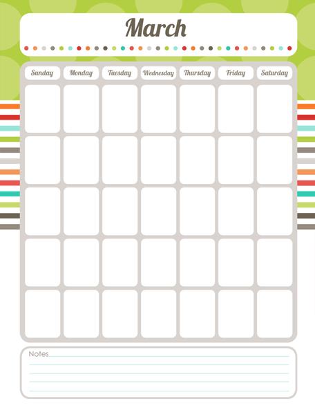 Free Printable Editable Calendar Pdf Slp Organizational