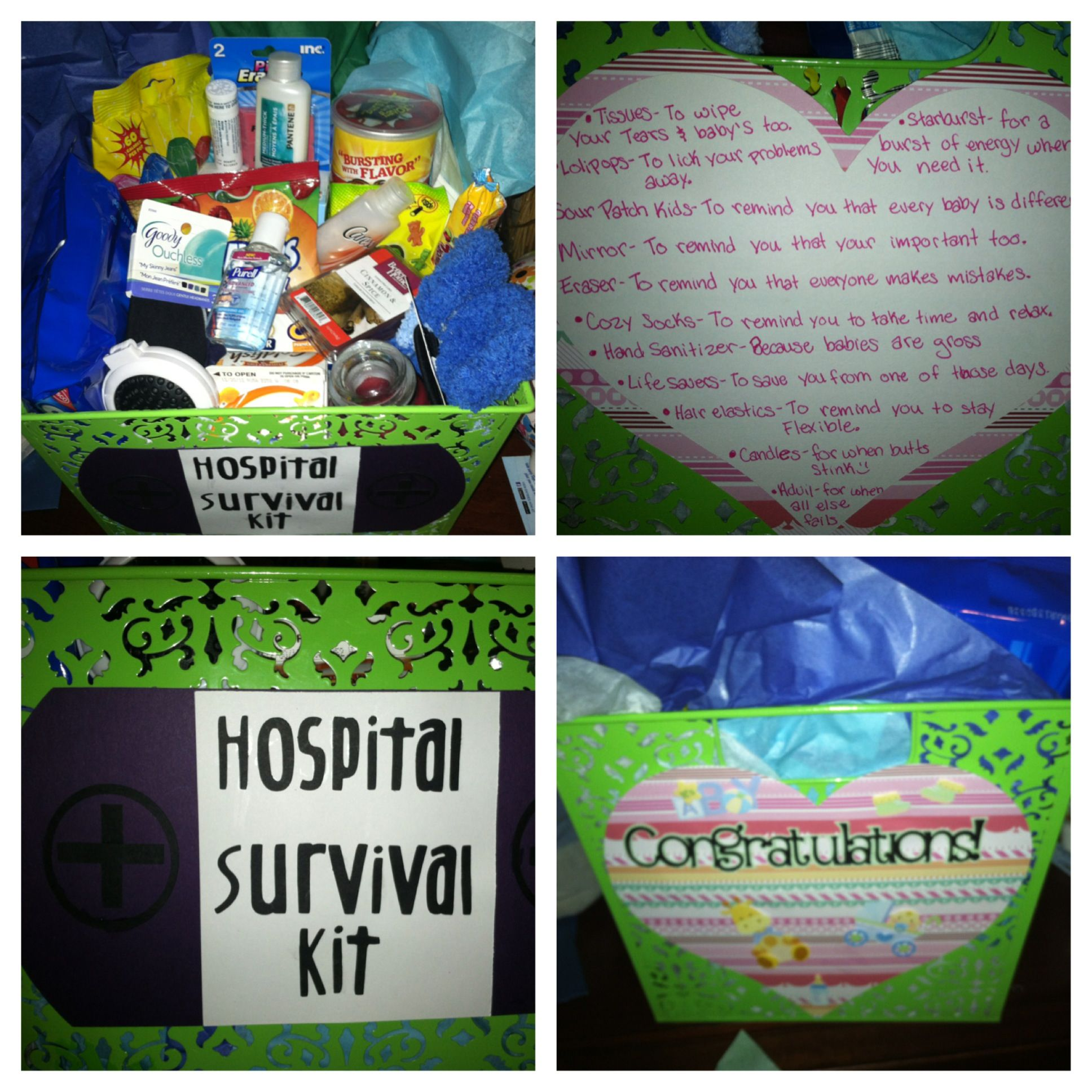 New Mom Hospital Survival Kit I Made It For Katie