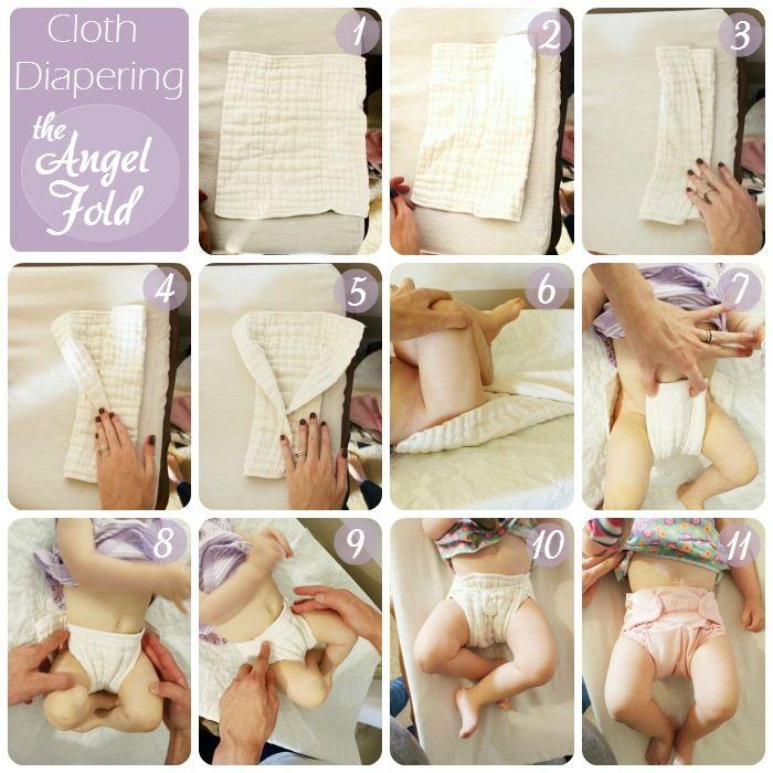 Äitiyspakkauksista tutut prefold-vaipat ovat helppoja käyttää. Näpsyllä kiinnitettyinä prefoldin päälle voi pukea villahousutkin.