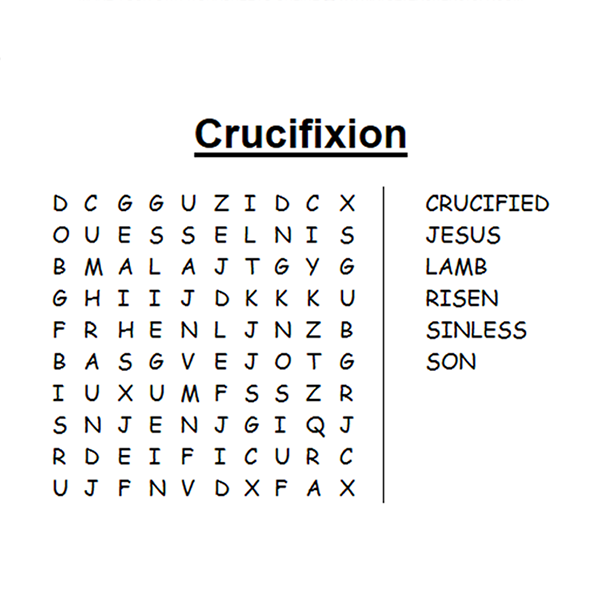 Religious Easter Word Search Puzzle Free to print PDF file
