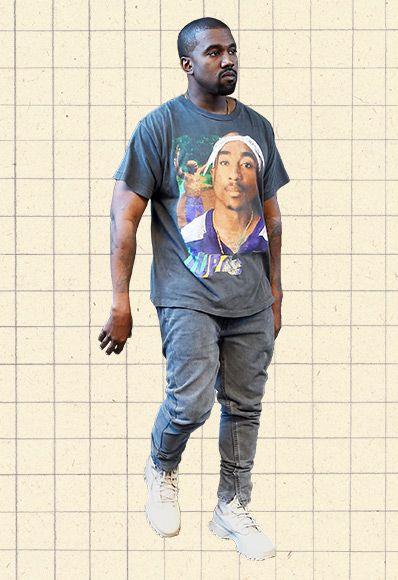 Kanye West In Vintage Tupac Shakur T Shirt Style Kanye West Kanye West