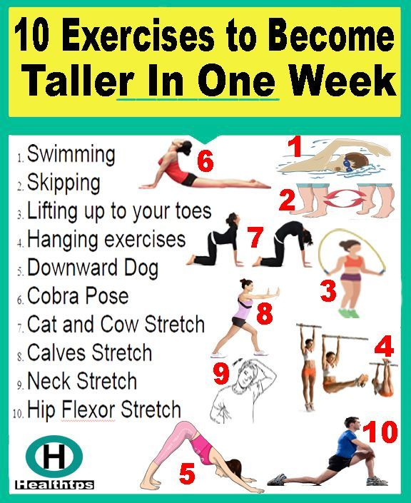 10 Exercises To Become Taller In One Week How To Grow Taller Increase Height Exercise Tips To Increase Height