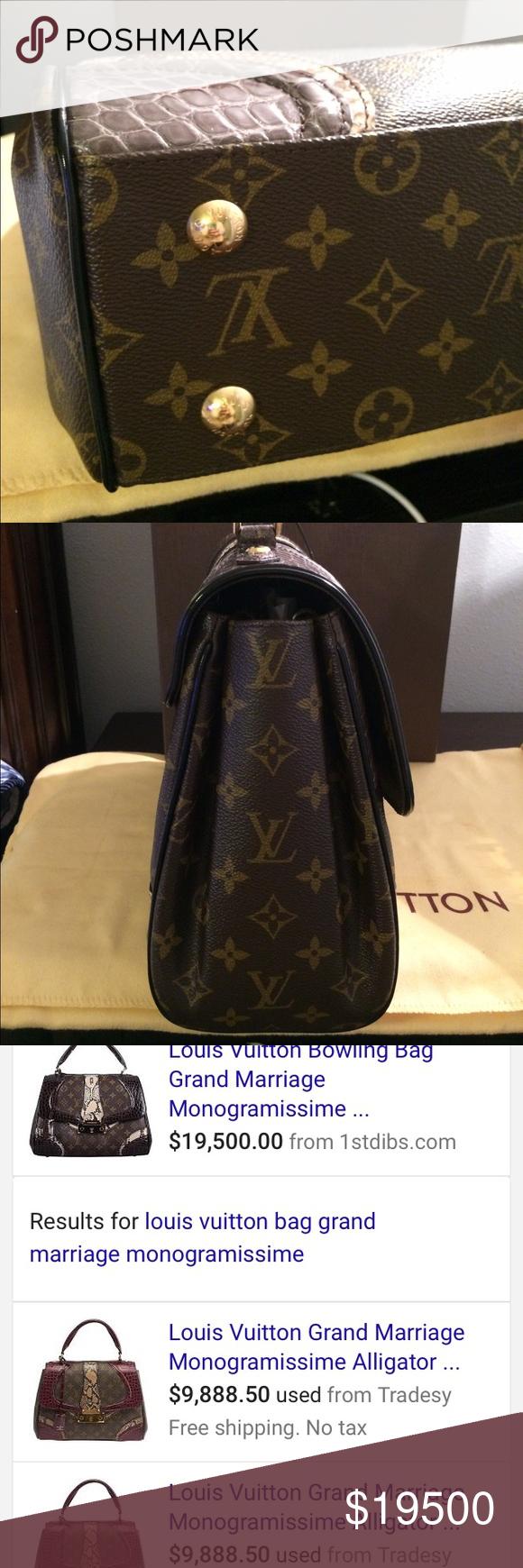 89acdc6906cf Spotted while shopping on Poshmark  RARE LOUIS VUITTON GRAND MARRIAGE BAG!   poshmark  fashion  shopping  style  Louis Vuitton  Handbags