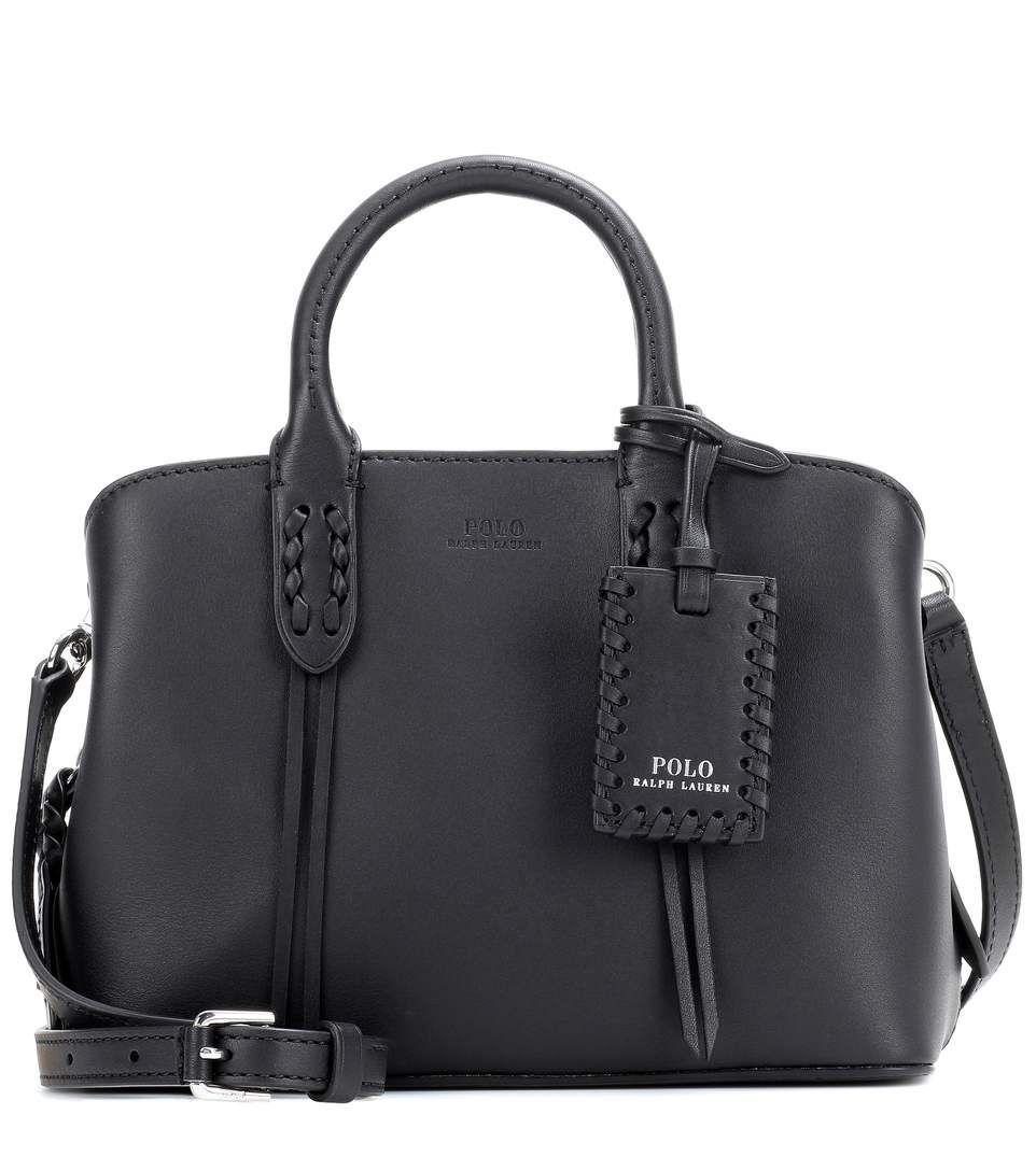 Polo Ralph Lauren Mini Satchel Leather Shoulder Bag In Llack Modesens Leather Shoulder Bag Bags Shoulder Bag