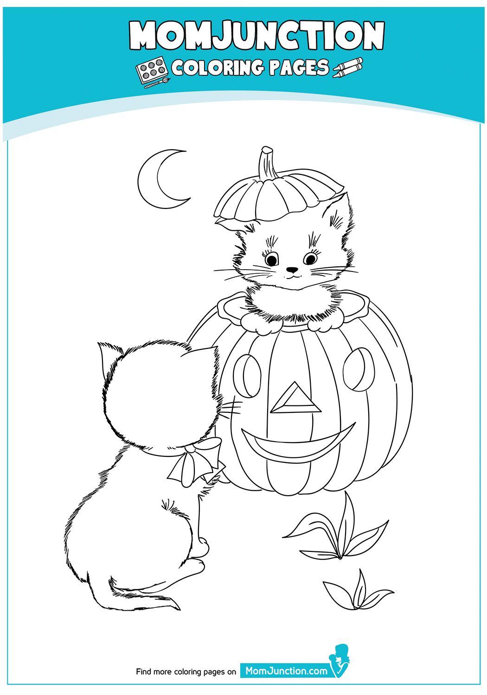 Halloween Whit Cat 17 04 Kolorowanki