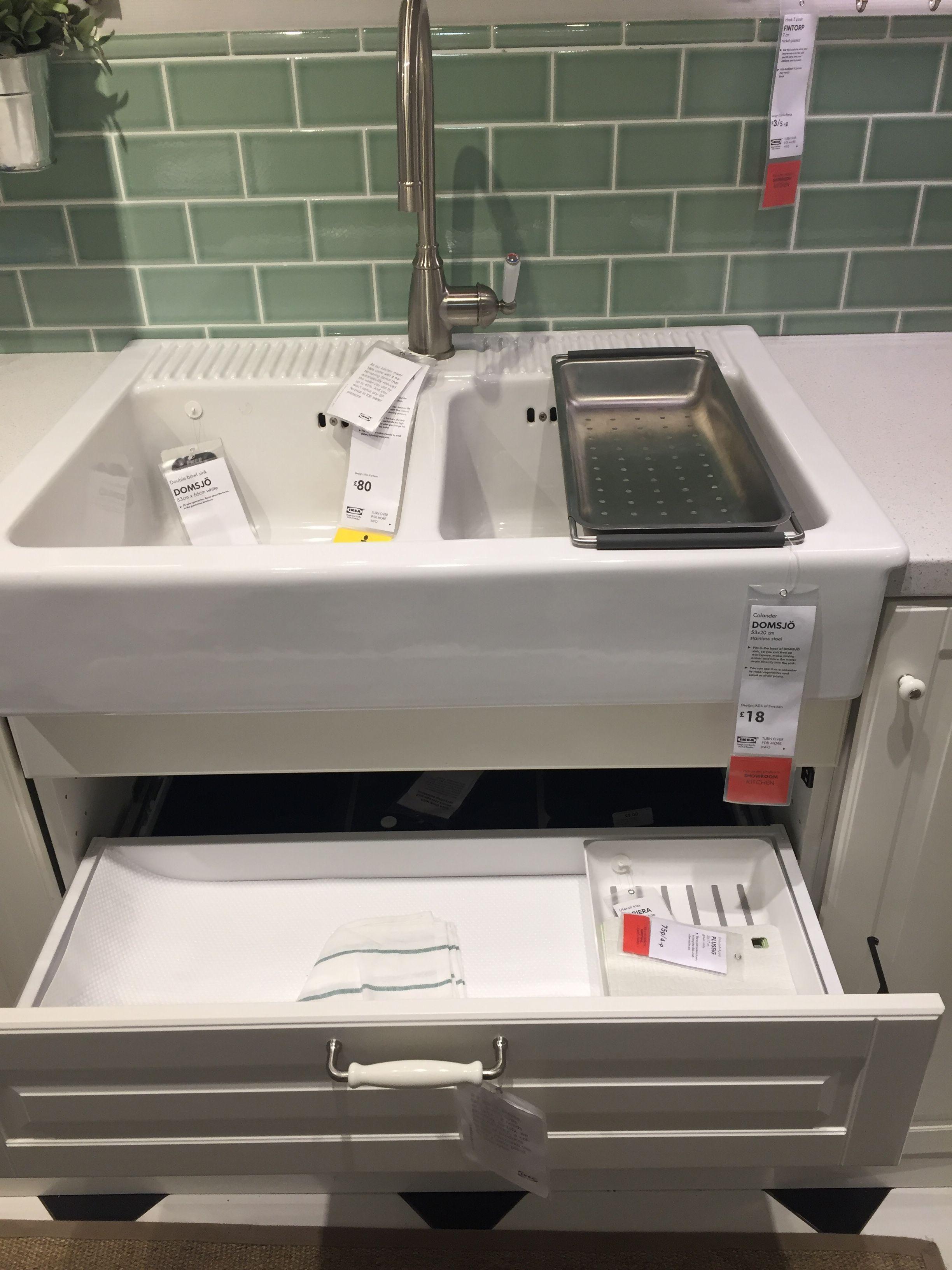 Ikea Domsjo Double Sink Avec 2 Tiroirs Poubellerecyclage