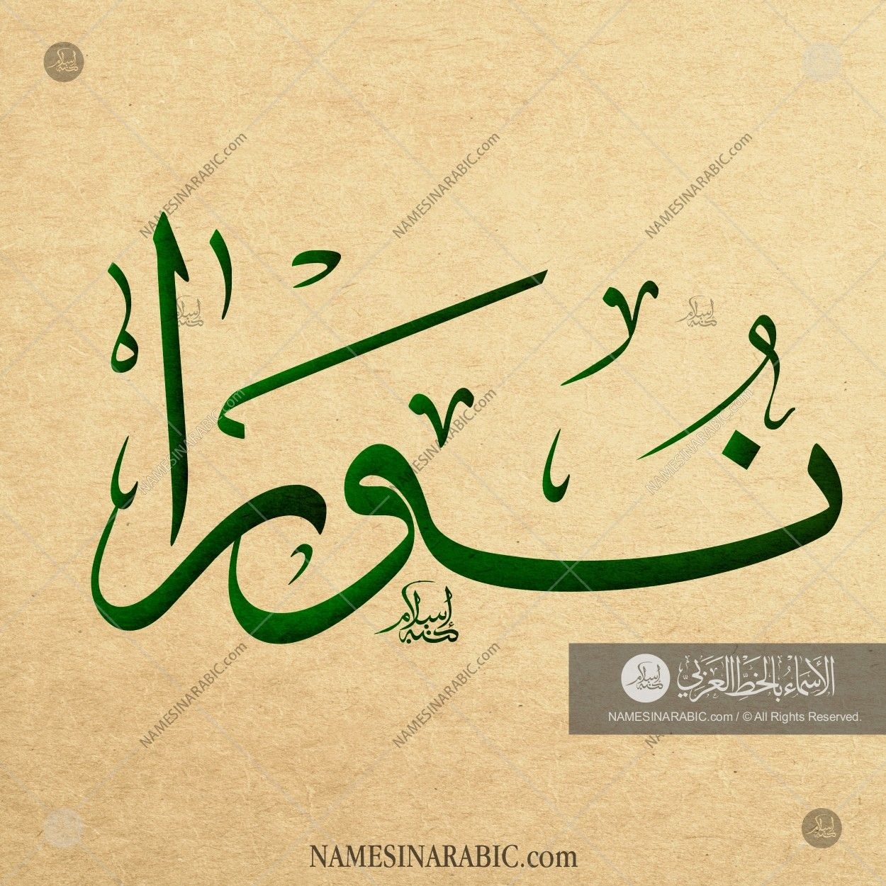 Noora نورا Names In Arabic Calligraphy Name 2804 Calligraphy Name Calligraphy Arabic Art