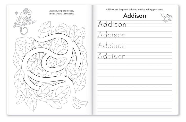 My Very Own Name Coloring and Activity Book | PERSONALIZED ...