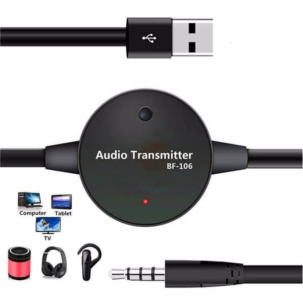 Bf 106 35mm bluetooth stereo audio transmitter receiver rca music bf 106 35mm bluetooth stereo audio transmitter receiver rca music adapter car home aux worldwide delivery original best quality product for 70 of its greentooth Image collections