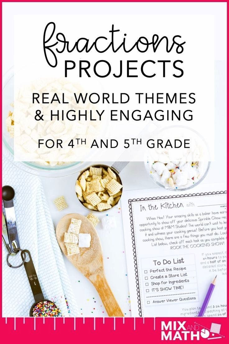 Math Beyond the Classroom with Real World Fraction Projects — Mix and Math Real world math projec