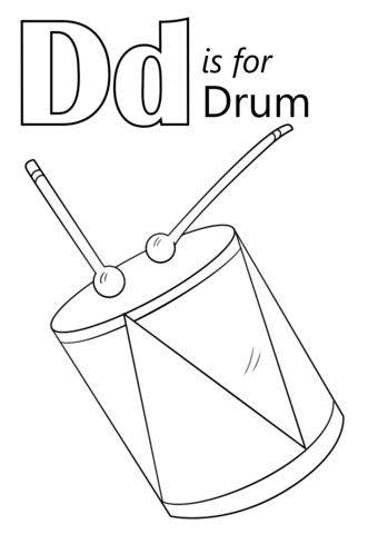 Letter D Is For Drum Coloring Page From Letter D Category Select From 26666 Printable Crafts Of Cartoons Abc Coloring Pages Alphabet Coloring Pages Drum Craft