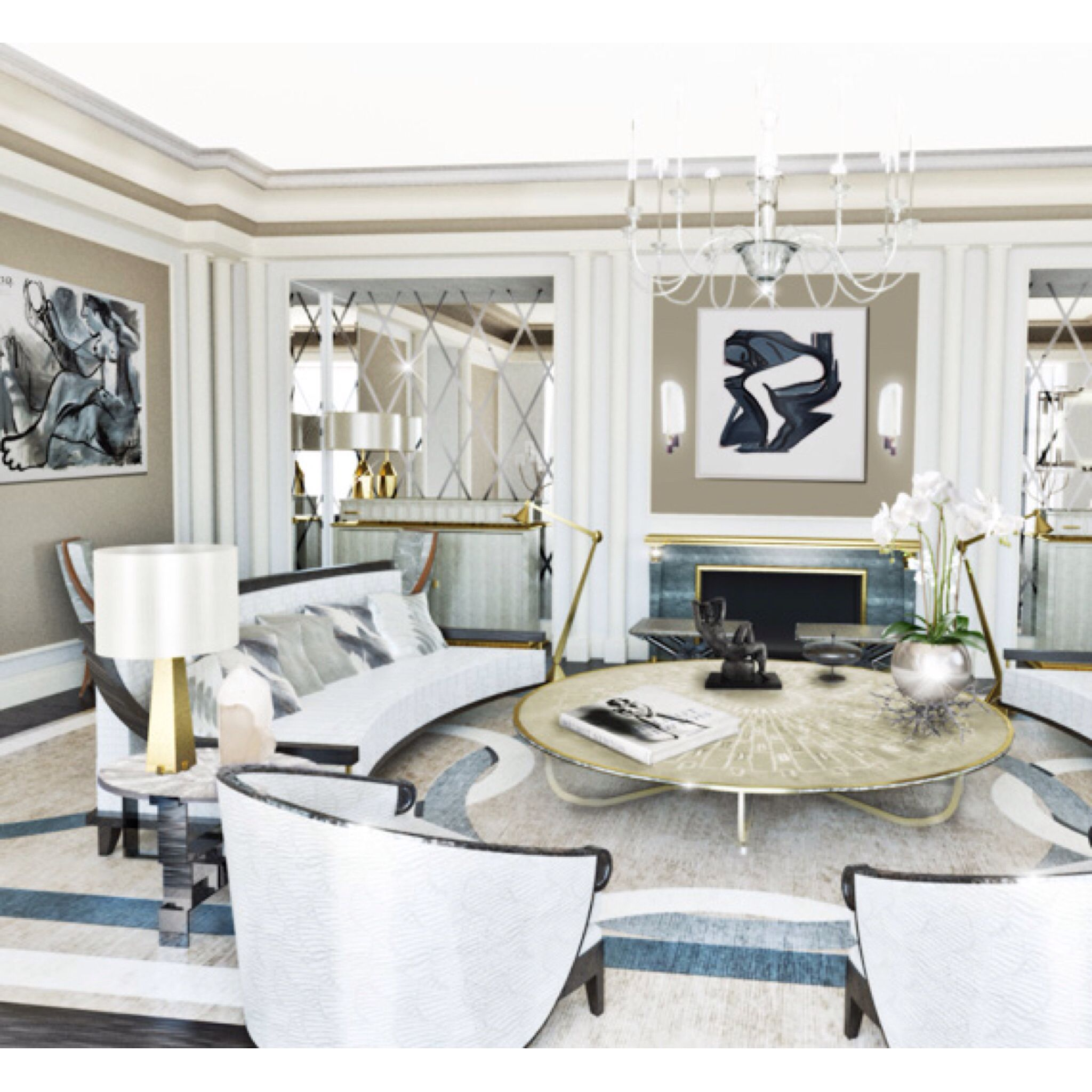 Amazing Luxe Interior By Jean Louis Deniot.