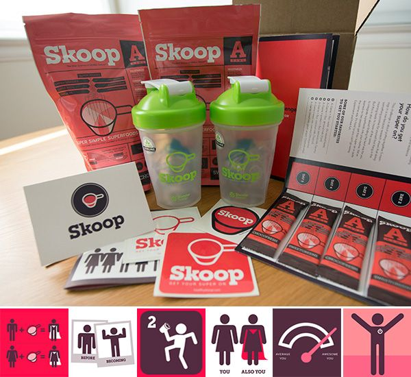 Packaging isn't everything, but gorgeous, playful, happy graphics, branding, and simple inforgaphics never hurt… and with Skoop it definitely grabbed my attention
