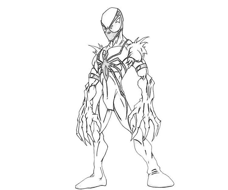 Anti Venom Coloring Pages Chibi Coloring Pages Coloring Pages Drawings