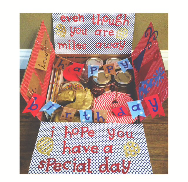 Even Though You're Miles Away, We Hope You Have A Special Day!Care Package For Birthday Or Just
