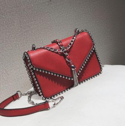 e34fe6595d4 British Fashion Simple Small Square bag Women's Designer Handbag ...