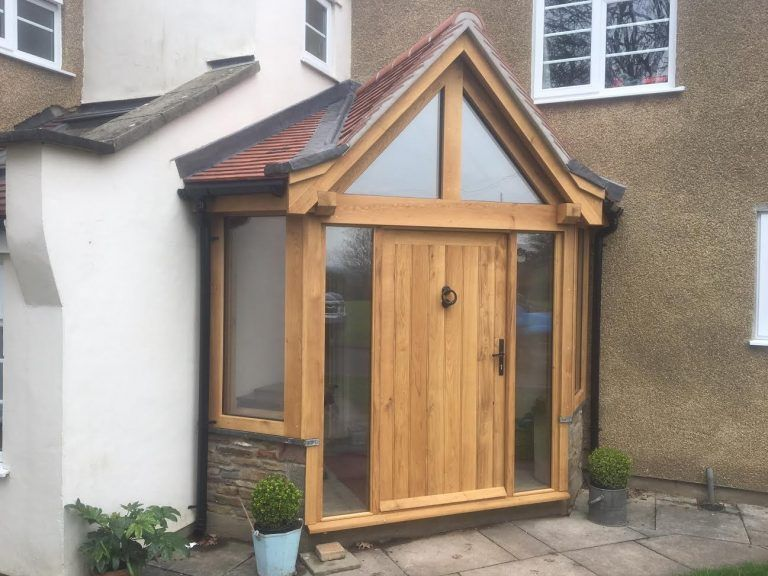Corner Oak Framed Enclosed Porch Gazebohouse House With Porch