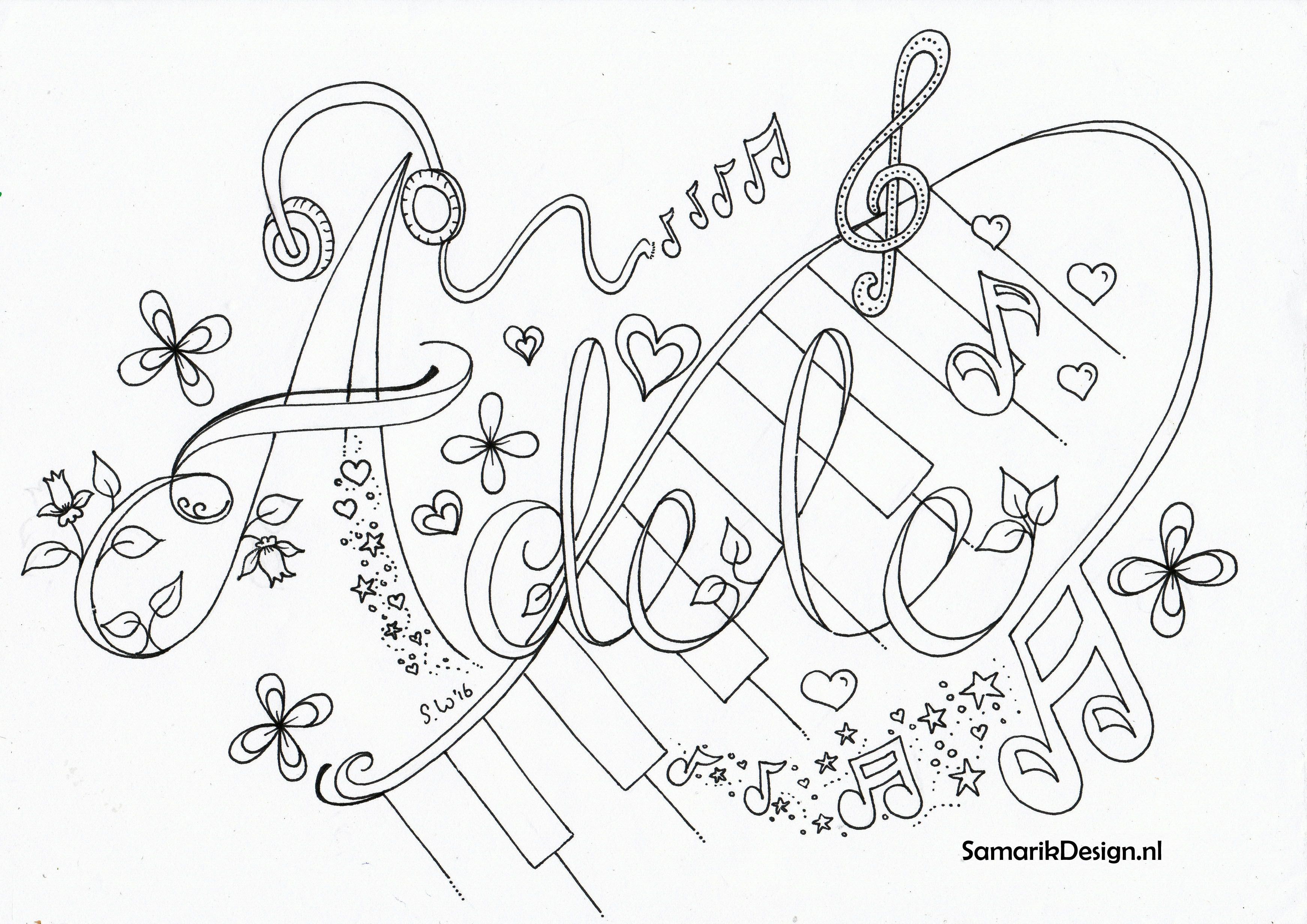 Image Result For Doodle Adele Kleurplaten Kleurplaten Voor Volwassenen