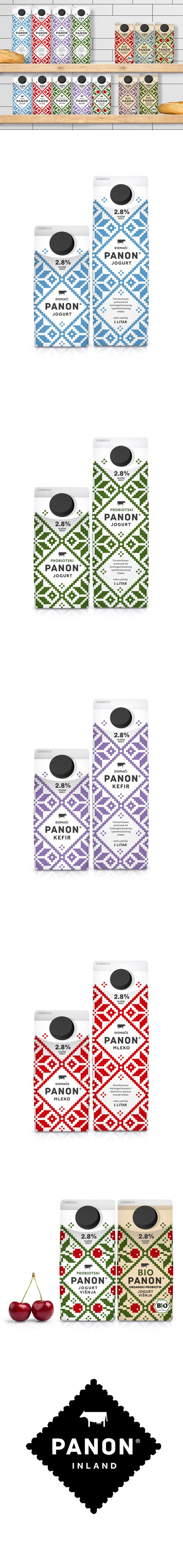 PANON Dairy *** Stunning new packaging from Peter Gregson Studio for PANON and BIOPANON yogurt and kefir brands #packaging #branding #marketing PD