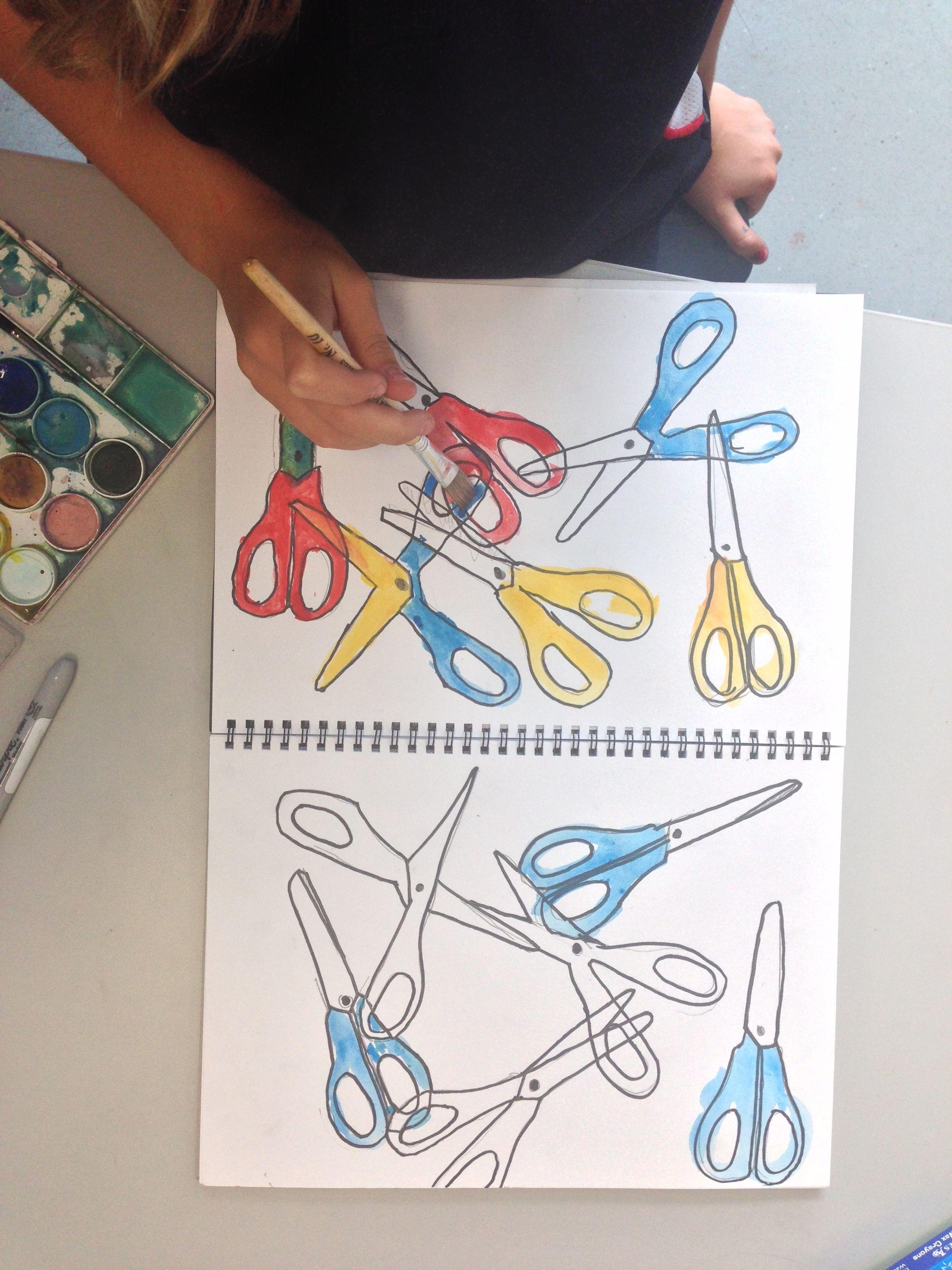 Primary Colors Stencil Grade 3 Grade 4 Art Lesson
