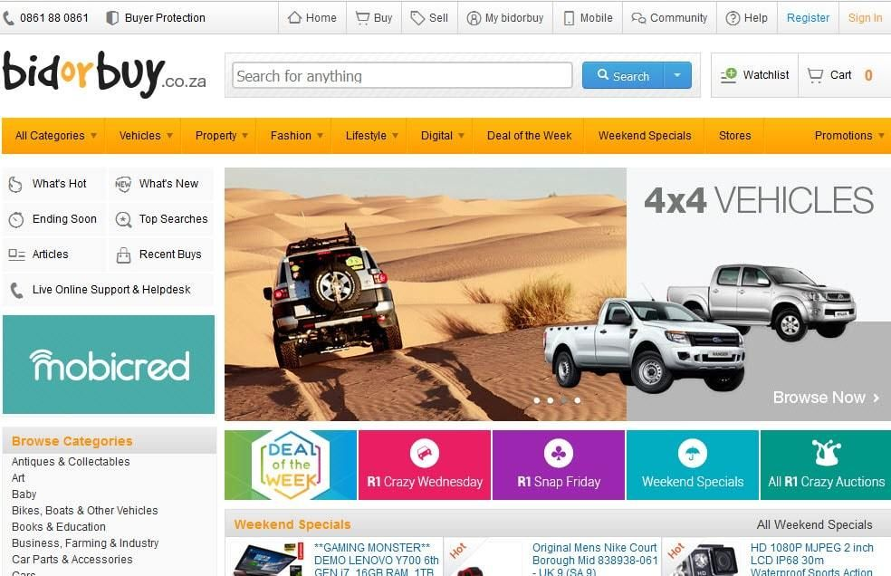 Bidorbuy Ecommerce Website Established In 1999 Bidorbuy Has Grown