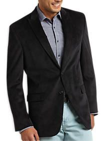 Calvin Klein Black Corduroy Slim Fit Sport Coat | just for him