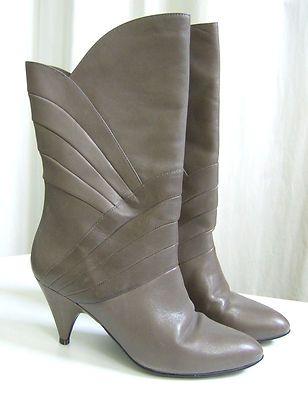 Gloria Vanderbilt Taupe Soft Leather Boots...