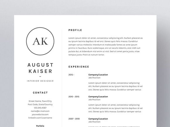 August Kaiser  ResumeCv Template By Worn Out Media Co On